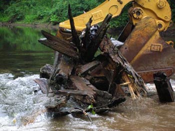 Removal of Wood Dam